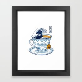 The Great Kanagawa Tee Framed Art Print