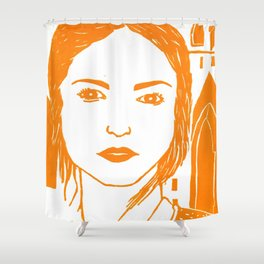 WUTHERING HEIGHTS - LINO (ORANGE VERSION)  Shower Curtain