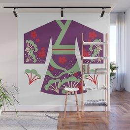 Purple Japanese Kimono Wall Mural