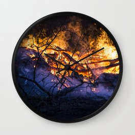 Mystical Fire Wall Clock