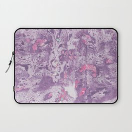 Purple Pink and Mint Marbling Laptop Sleeve