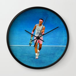 Rafael Nadal Fist Pump Wall Clock