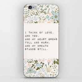 I think of love, and you - E. Dickinson Collection iPhone Skin