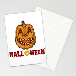Halloween Evil Pumpkin Stationery Cards