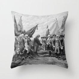 Surrender Of Cornwallis At Yorktown Throw Pillow