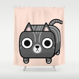 Cat Loaf - Grey Tabby Kitty Shower Curtain