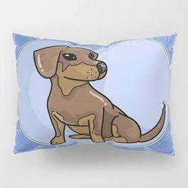 Daschund Heart Pillow Sham