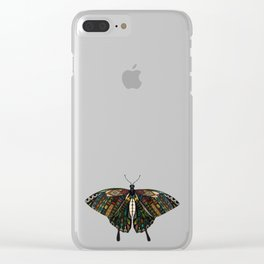 swallowtail butterfly terracotta Clear iPhone Case