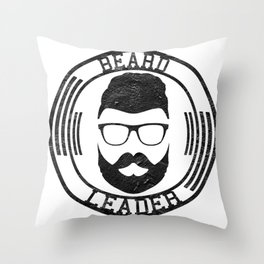 Beard leader Throw Pillow