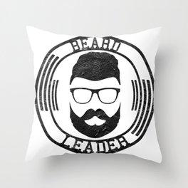 Beard leader Throw Pillow