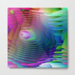 Ribbons of Dancing Rainbows Metal Print