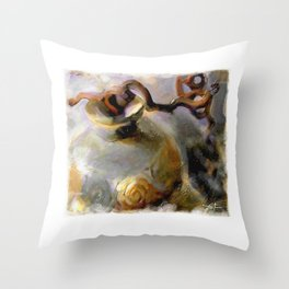 pottery with hazel branches Throw Pillow