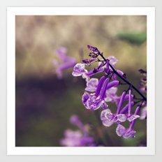 Mona Lavender Art Print