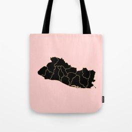 El Salvador map Tote Bag