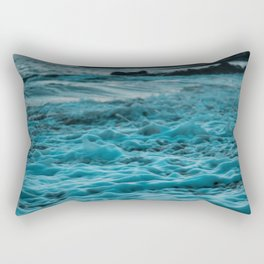 Wavy Waters In California In The Summer Rectangular Pillow