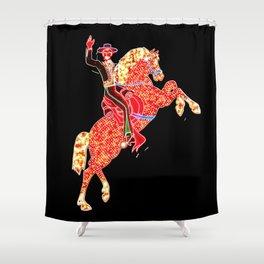 Hacienda Horse Rider Las Vegas Shower Curtain