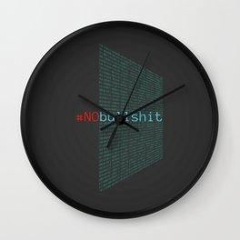 # no bullshit Wall Clock