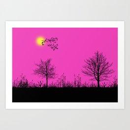 Pink panorama Art Print