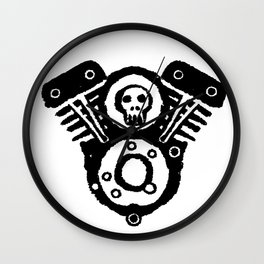 Skull Twins Wall Clock
