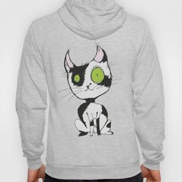 Cute black and white cat Hoody