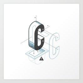 The Exploded Alphabet / C Art Print