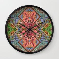 3-D Mosaic Pattern Wall Clock