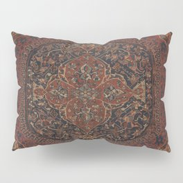 Boho Chic Dark I // 17th Century Colorful Medallion Red Blue Green Brown Ornate Accent Rug Pattern Pillow Sham