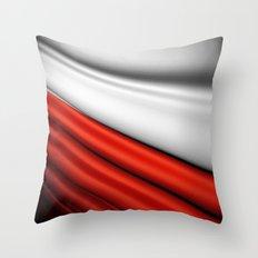 flag of Poland Throw Pillow