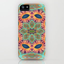 Jeweled Sphere Abstract Geometric Print iPhone Case