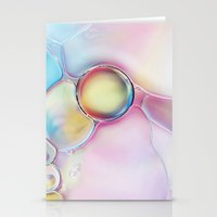 bubble Stationery Cards featuring Bubble by Sharon Johnstone
