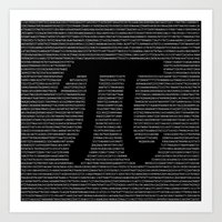 pi Art Prints featuring Pi by The Colour Wheel