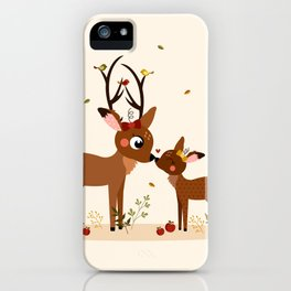 Bisou ma biche iPhone Case