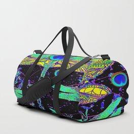 CELESTIAL DRAGONFLIES DREAMSCAPE BLACK DESIGN Duffle Bag
