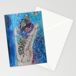 Albino Crocodile Stationery Cards