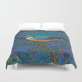 Nuthatch and Fir Duvet Cover