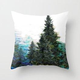 GREEN MOUNTAIN PINES LANDSCAPE Throw Pillow