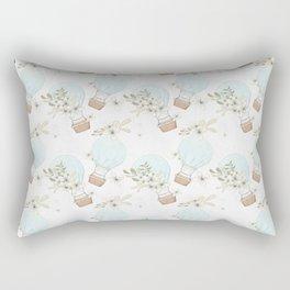 Blue Air Balloons Pattern Rectangular Pillow