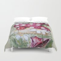 mushroom Duvet Covers featuring mushroom by Macknifique