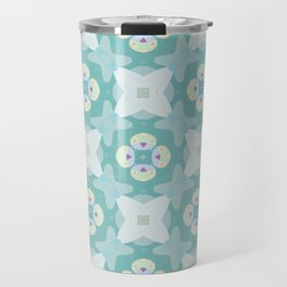 Beatrix cute trinket on teal pattern Travel Mug