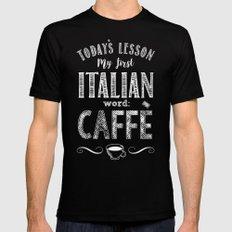 Italian Lessons / Coffee Black Mens Fitted Tee MEDIUM