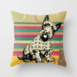 Scottish Terrier Neck Gator Scotty Dog Throw Pillow