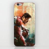 iron man iPhone & iPod Skins featuring The man of Iron by Wisesnail