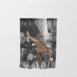 Safary in City. African Invasion. Wall Hanging