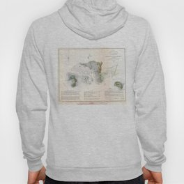 Vintage Map of Cedar Key Florida (1852) Hoody