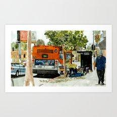 Homeless Series 5 ~ Sunset Blvd., Los Angeles, CA. Art Print
