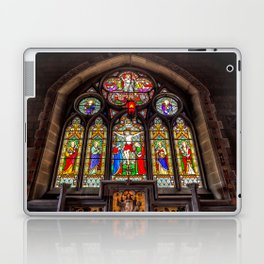 Ancient Stained Glass Laptop & iPad Skin