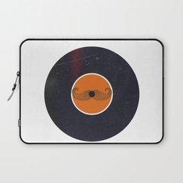Vinyl Record Art & Design | Handlebar Mustache Laptop Sleeve