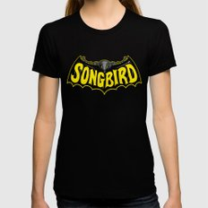 Songbird Womens Fitted Tee Black LARGE