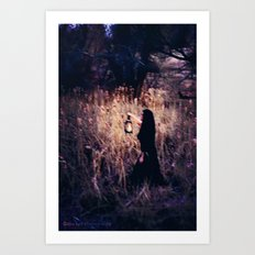 Lantern in the Dark Art Print
