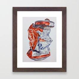 Budweiser can Framed Art Print